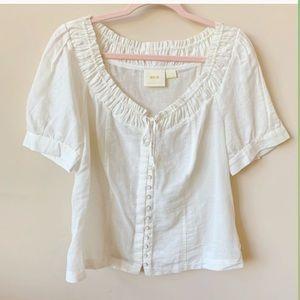 Anthropologie Maeve woven button thru blouse #881